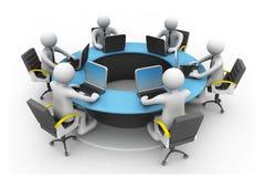 Konferens för rund tabell Arkivbild