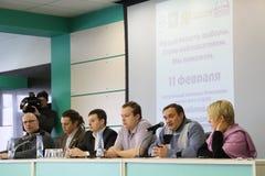 Konferens på uppsättningen av observatörer arkivfoton