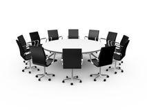 Konferensen bordlägger och kontorsstolar vektor illustrationer