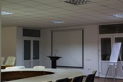 Konferenskorridor för förhandlingar royaltyfri foto