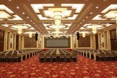 Konferenskorridor i hotell Arkivfoto