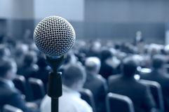 konferenskorridormikrofon arkivfoton