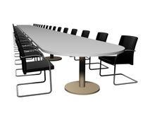 Konferensrum, lång tabell Arkivfoton