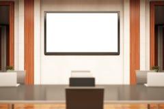 Konferensrum med whiteboard Arkivfoto