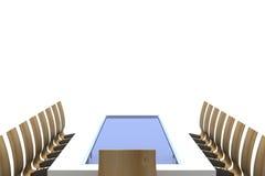 Konferenstabell med stolar Royaltyfri Foto