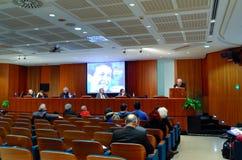 Konferenz des Europäers gelassen in Rom Stockfotografie