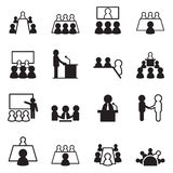 Konferenzikonensatz Lizenzfreie Stockbilder