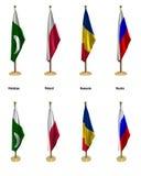 Konferenzmarkierungsfahnen Stockfotos