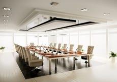 Konferenzsaal 3d übertragen Stockfotografie