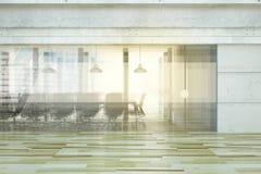 Konferenzsaal mit Glasreflexionen, Geschäftskonzept lizenzfreie stockfotos
