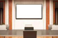 Konferenzsaal mit whiteboard Stockfoto