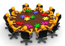 Konferenztisch-Teamwork lizenzfreie abbildung