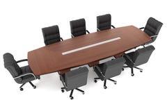 Konferenztisch- und Bürostühle Stockfoto