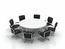 Konferenztisch und Stühle Lizenzfreie Stockfotos