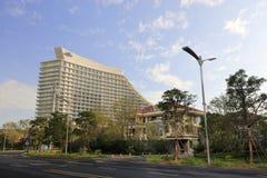 Konferenzzentrum Xiamen-Internationaler Konferenz, luftgetrockneter Ziegelstein rgb Stockbild