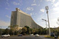 Konferenzzentrumhotel Xiamen-Internationaler Konferenz, luftgetrockneter Ziegelstein rgb Stockfoto