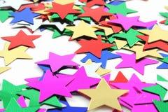 konfetti gwiazdy Zdjęcia Royalty Free