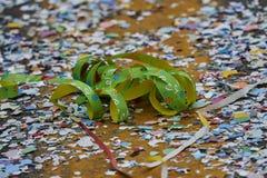 Konfettier och banderoller Royaltyfri Fotografi