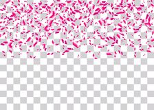 Konfettier omkullkastar genomskinlig bakgrund Royaltyfria Bilder