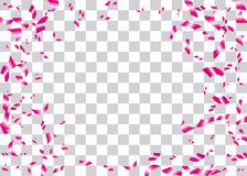 Konfettier omkullkastar genomskinlig bakgrund Royaltyfri Foto