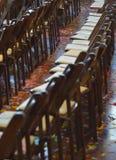 Konfettier på golvet av händelsekorridoren på countrymusikkorridoren av berömmelse och museet Royaltyfria Foton