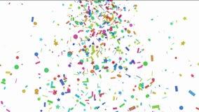 Konfettifallen stock video footage
