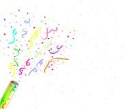 konfettifyrverkerier Arkivbilder
