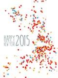 Konfettihintergrund des guten Rutsch ins Neue Jahr 2015 Stockfoto