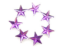 konfettipurplestjärnor Royaltyfri Fotografi