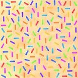 Konfettis, festlich, Gruß, Streifenaquarell stock abbildung