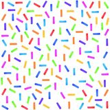 Konfettis, festlich, Gruß, Streifenaquarell lizenzfreie abbildung