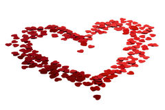 Konfettis von Herzen Lizenzfreie Stockbilder