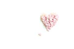 Konfettistänk i form av hjärtan Fotografering för Bildbyråer