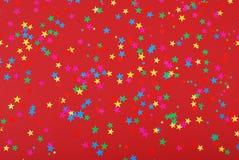 konfettistjärnor royaltyfri fotografi