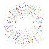 Konfettitryckvåg i olik riktningsvektor Arkivbilder