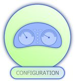 Konfiguraci deski rozdzielczej ikona i symbol Zdjęcia Royalty Free