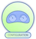 Konfigurationsarmaturenbrettsymbol und -ikone Lizenzfreie Stockfotos