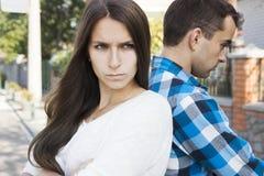 Konflikt in der jungen Familie Stockfoto