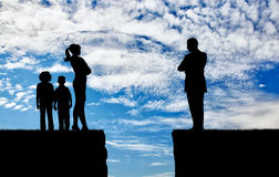 Konflikt i rozwód w rodzinie Zdjęcie Royalty Free
