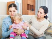 Konflikt intergenerational Zdjęcia Stock