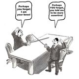 Konflikt-Management stock abbildung