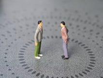 Konflikt między dwa mężczyzna obrazy royalty free