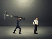 Konflikt między dwa biznesmenami Obraz Stock