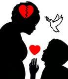 Konflikt till fred royaltyfri illustrationer