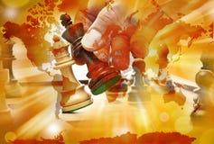 Konflikt wojny światowa strategii szachy Obrazy Stock