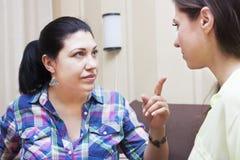 Konflikt zwischen Schwestern Lizenzfreie Stockbilder