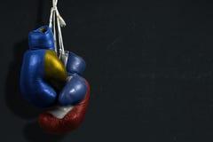 Konflikt zwischen Ukraine und Russland Stockfotos