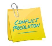 Konfliktlösungsnotizbeitrags-Illustrationsdesign Lizenzfreie Stockfotos