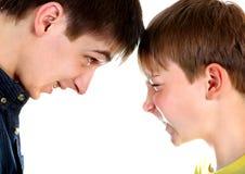 Konfrontation för två bröder royaltyfri fotografi