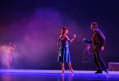 Konfrontation-identitet av dentango dansdramat Arkivbild